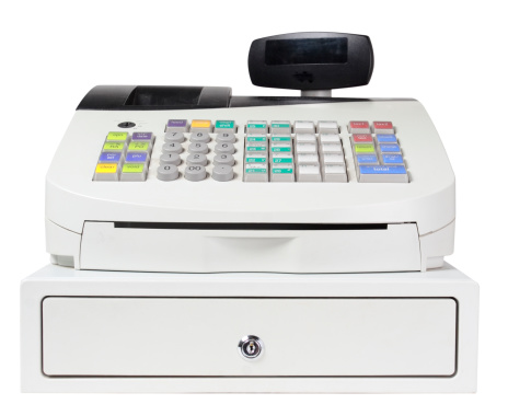 Point Of Sale「Cash Register on White with Clipping Path」:スマホ壁紙(5)