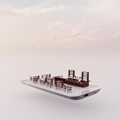 Internet of Things「Mobile phone miniature worlds: bar on a smart phone screen」:スマホ壁紙(4)