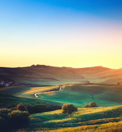 Val d'Orcia「Tuscany Landscape」:スマホ壁紙(0)