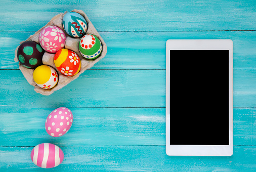 Touch Screen「Easter Eggs with Digital Tablet」:スマホ壁紙(15)
