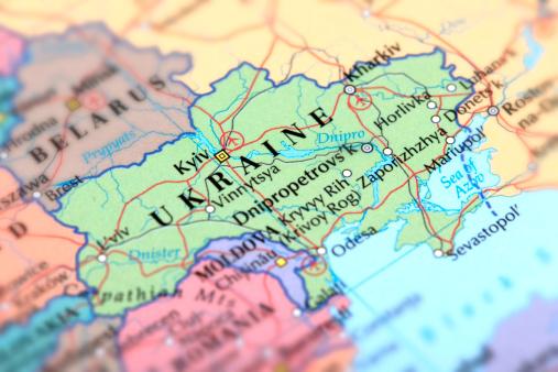Ukraine「Map of green Ukraine on a globe」:スマホ壁紙(1)