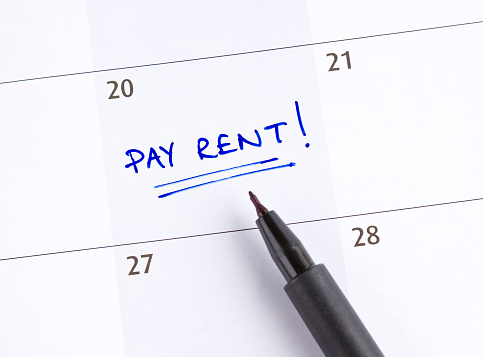 Writing「A calendar marked pay rent! on the 20th of the month」:スマホ壁紙(7)