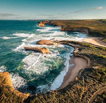 Rocky Coastline「australian great ocean road coastline」:スマホ壁紙(3)