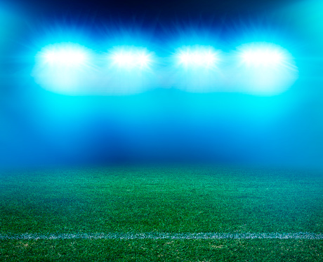 Floodlight「Night Stadium grass」:スマホ壁紙(12)