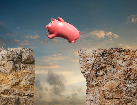 Making Money「Piggy Bank Taking The Leap」:スマホ壁紙(14)
