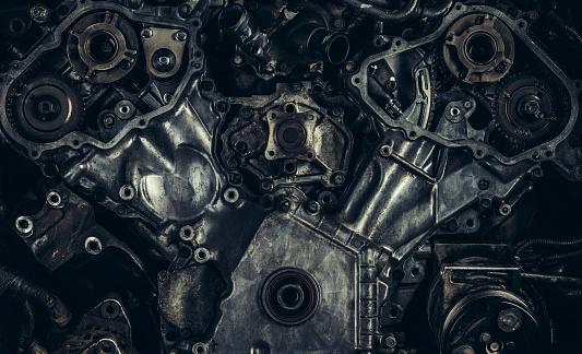 Piston「V8 car engine close-up」:スマホ壁紙(8)