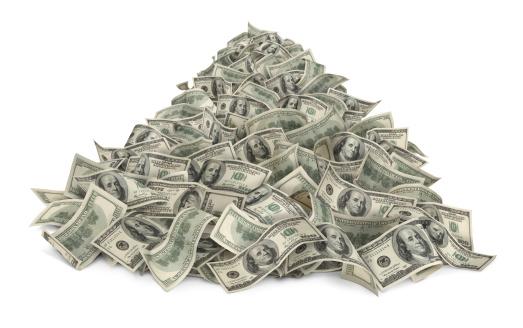 American One Hundred Dollar Bill「Heap Of Money」:スマホ壁紙(15)