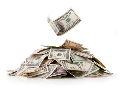 American One Hundred Dollar Bill「Heap of money. Dollar bills.」:スマホ壁紙(13)