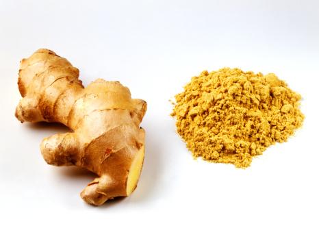 Ginger - Spice「Fresh root ginger with pile of ginger powder」:スマホ壁紙(7)