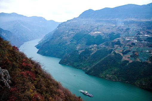 かえでの葉「The Yangtze river three gorges nature reserve」:スマホ壁紙(5)