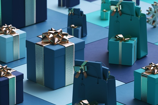 Christmas Paper「Abstract background of boxes of different geometric shapes」:スマホ壁紙(14)
