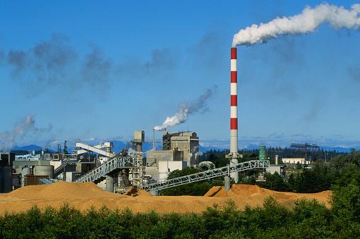 Mill「Paper Mill Smokestacks Emitting Smoke」:スマホ壁紙(17)
