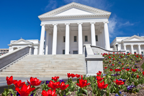 Virginia - US State「Virginia State Capitol In Richmond, VA During The Spring」:スマホ壁紙(7)