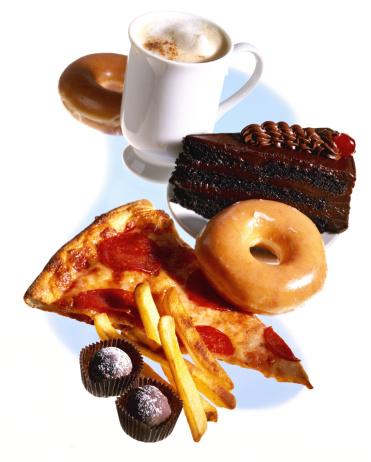 Unhealthy Eating「Assortment of junk food」:スマホ壁紙(1)