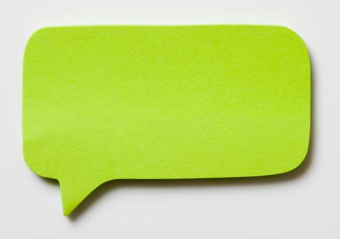 Adhesive Note「Speech Bubble」:スマホ壁紙(5)