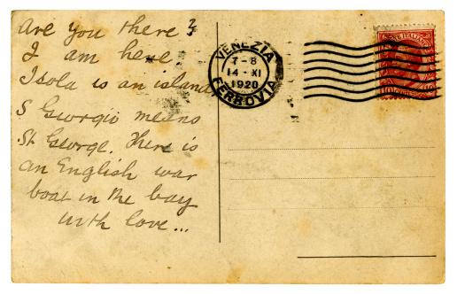 Writing「Postcard from Venice, 1920」:スマホ壁紙(16)