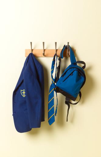 Rack「School blazer and bag on coat rack」:スマホ壁紙(7)