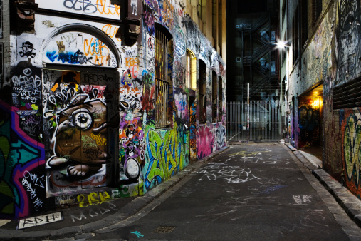 Graffiti「Australia, Melbourne, Graffiti on wall」:スマホ壁紙(4)