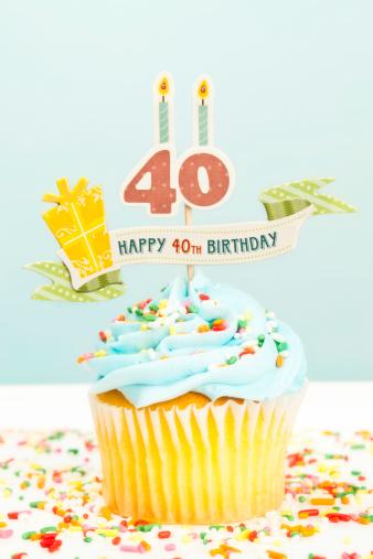 Number「40th Birthday Cupcake」:スマホ壁紙(3)
