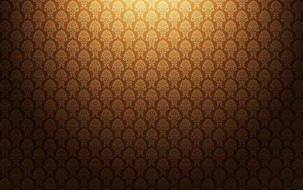 Brown damask wallpaper background:スマホ壁紙(壁紙.com)