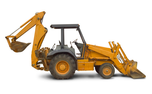 Construction Vehicle「Backhoe side view」:スマホ壁紙(5)