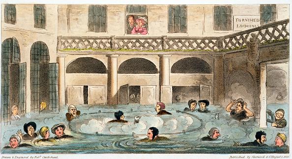 Roman Bath「Public Bathing At Bath Or Stewing Alive' 1825」:写真・画像(0)[壁紙.com]