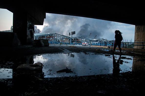 Exploding「Massive Explosion Near Port Area Of Beirut」:写真・画像(17)[壁紙.com]