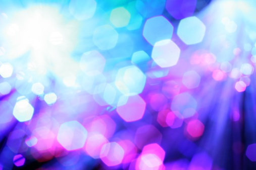 Blurred Motion「Abstract Light Background Blue」:スマホ壁紙(16)