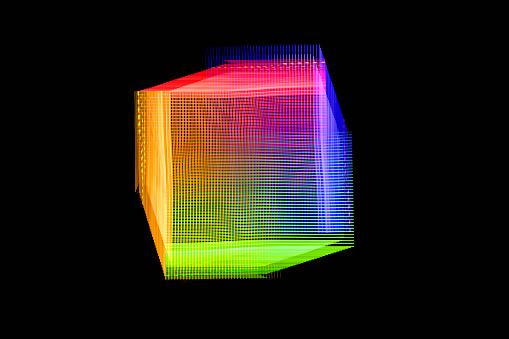 Big Data「Abstract Light Trail Form」:スマホ壁紙(14)