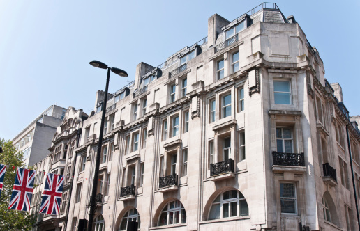 Oxford Street - London「London Architecture Union Jack:  Classic Fassade in Sunny Afternoon」:スマホ壁紙(9)