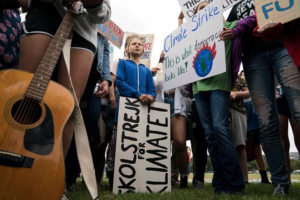 Strike - Protest Action「Teen Activist Greta Thunberg Joins Climate Strike Outside The White House」:写真・画像(12)[壁紙.com]