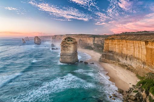 Limestone「The Twelve Apostles, Great Ocean Road, Victoria, Australia」:スマホ壁紙(0)