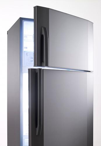 Refrigerator「empty big fridge with blue lights」:スマホ壁紙(18)