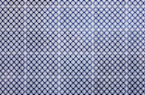 Indigenous Culture「Blue and white pattern on tiles from Meknes medina, Morocco」:スマホ壁紙(14)