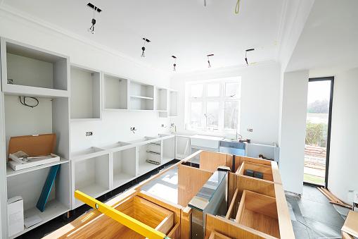 Carpentry「kitchen install progress」:スマホ壁紙(5)