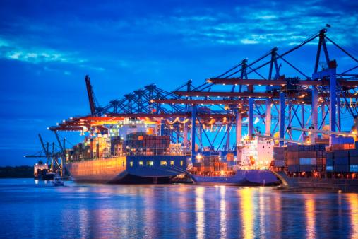 Pier「Container Terminal in Blue」:スマホ壁紙(0)