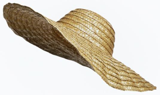 Hat「straw hat cut out on white」:スマホ壁紙(2)