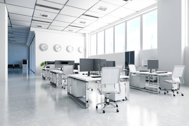 Modern Office with Desks:スマホ壁紙(壁紙.com)