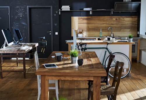 New Business「Modern office interior with kitchen」:スマホ壁紙(11)