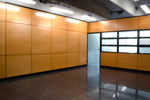 Corporate Business「Modern office interior with door and Windows」:スマホ壁紙(7)