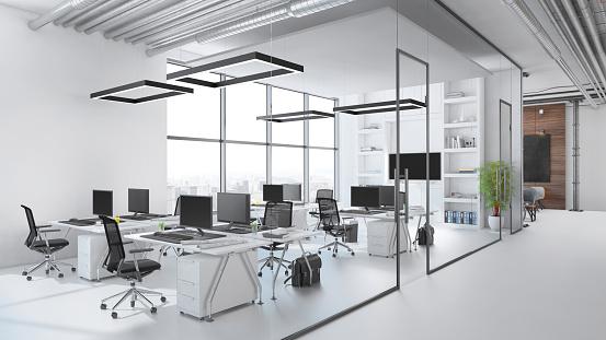 Illustration「Modern office interior」:スマホ壁紙(12)