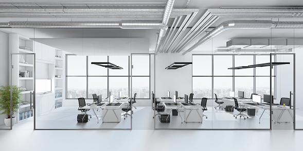 Illustration「Modern office interior」:スマホ壁紙(2)