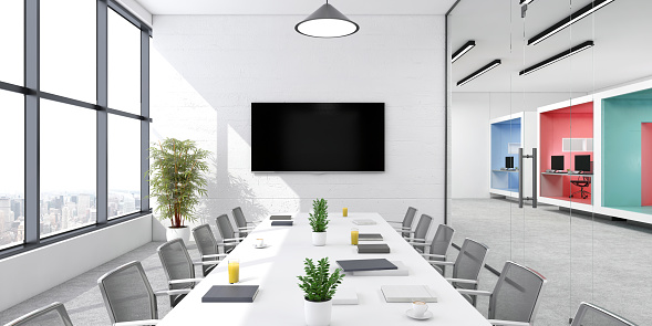 Computer Graphic「Modern office conference room interior」:スマホ壁紙(1)