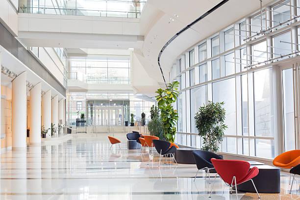Modern Office Building- Lobby:スマホ壁紙(壁紙.com)