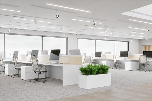 Working「Modern Office Space」:スマホ壁紙(18)