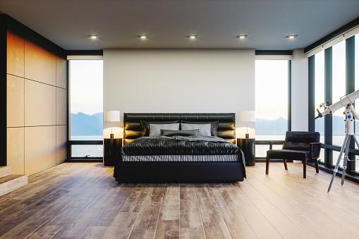 Luxury Hotel「Modern Luxury Bedroom With Ocean View」:スマホ壁紙(5)