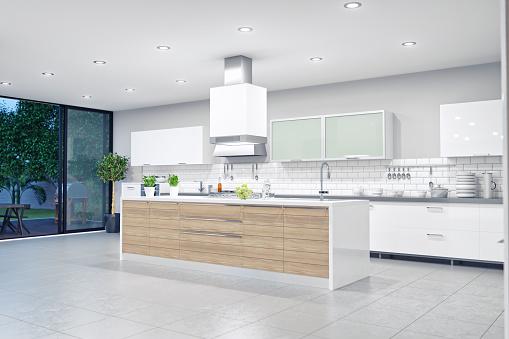 Island「Modern Luxury Kitchen Interior」:スマホ壁紙(17)