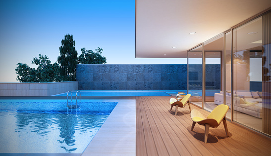 Outer Space「Modern Luxury Villa」:スマホ壁紙(2)