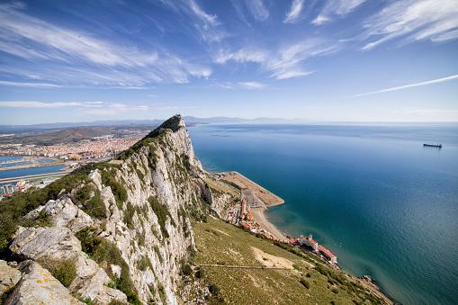 Peninsula「Gibraltar, View from rock to Mediterranean Sea」:スマホ壁紙(14)