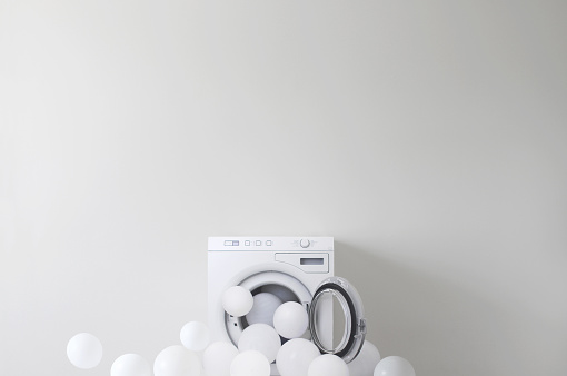 Domestic Life「Conceptual washing machine leaking soap suds」:スマホ壁紙(17)
